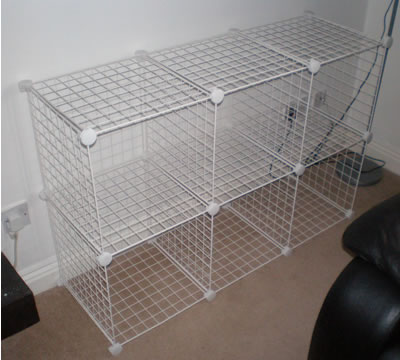 Gentil Wire Mesh Cube Retail Display Mince His Words